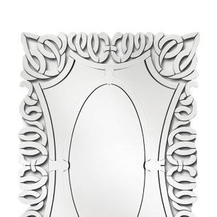 Espelho Veneziano Com Detalhes Vazados Napoli - 120x85cm