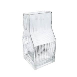 Vaso em Vidro Decorativo Translucido com Relevo - 20x10x10cm