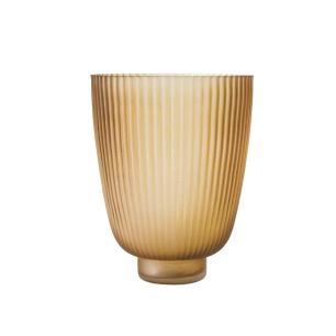 Vaso Decorativo em Vidro na Cor Marrom - 22x17cm