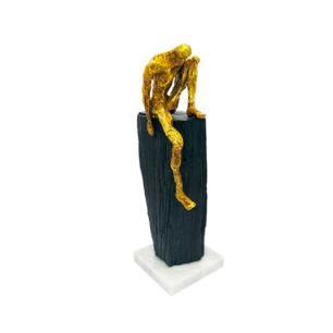 Escultura Decorativa em Resina - 32x10x10cm