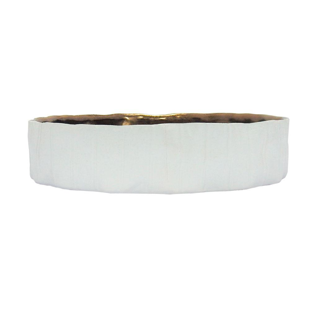 Bowl Decorativo Branco - 8x34x34cm