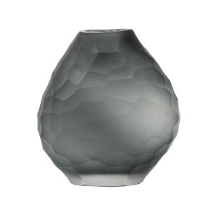 Vaso Decorativo em Vidro na Cor Cinza - 13x12x6,5cm