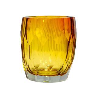 Vaso em Vidro Murano na Cor Âmbar - 12x15x12cm