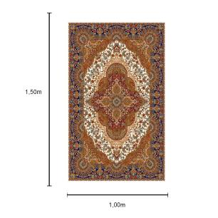 Tapete Persa com Franja cor Bege - 100x150cm