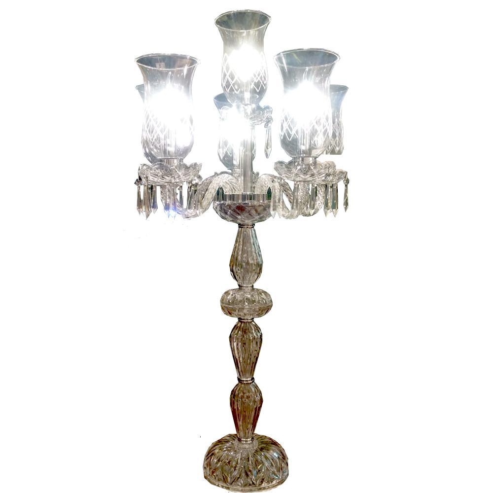 Abajur de Chão em Cristal 4 Lâmpadas103 cm X 55 cm