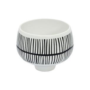 Vaso Decorativo Preto e Branco em Cerâmica - 12x13cm