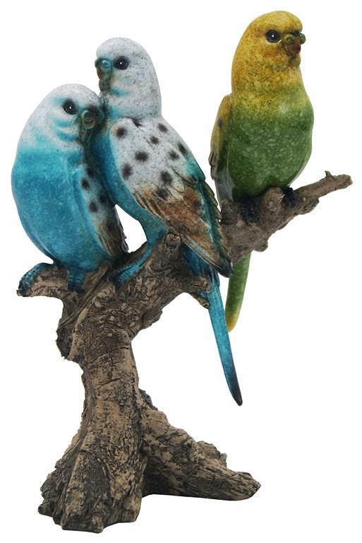 Escultura De Pássaro Em Resina Cacau