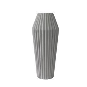 Vaso Decorativo em Cerâmica na Cor Cinza Claro - 33cm