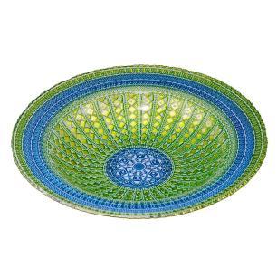 Centro de Mesa Decorativo Azul com Verde - 40cm