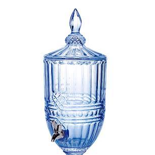 Suqueira Fratello em Cristal na Cor Azul com Pé - 4,5L