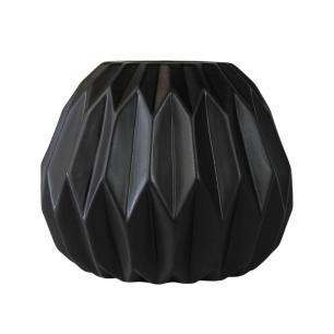 Vaso Decorativo em Cerâmica na Cor Preta - 22cm