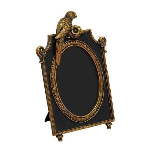 Porta Retrato Revestido em Resina Dourada - 30x20cm