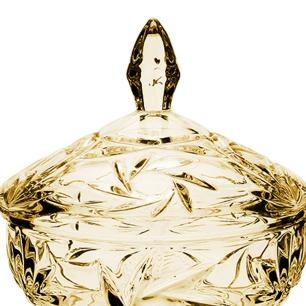 Bomboniere Pinwheel em Cristal Âmbar - 15x13,5cm