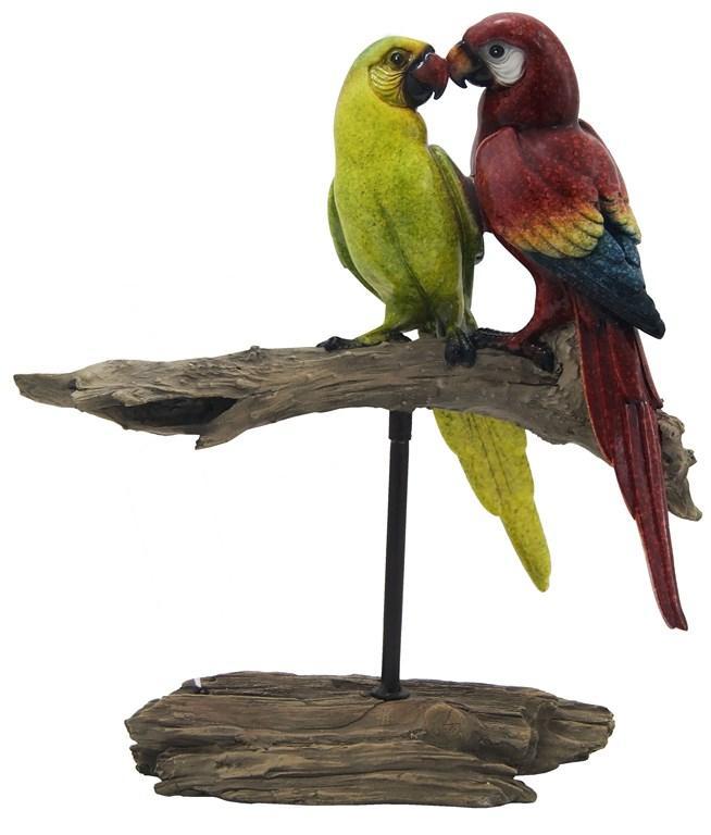 Escultura De Pássaro Em Resina Bogus