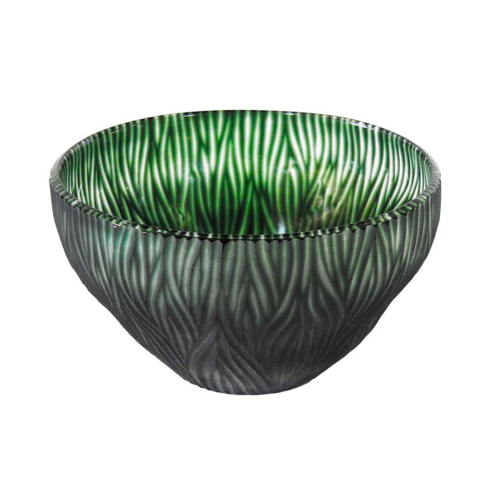 Vaso Decorativo em Vidro na Cor Verde - 15x29cm
