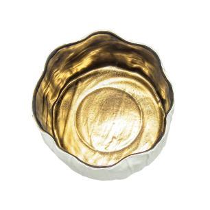 Vaso em Cerâmica Branca - 35x23x23cm