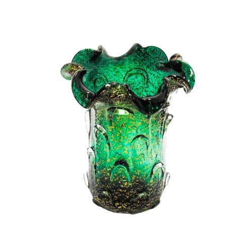 Vaso em Murano Verde - 30x33cm