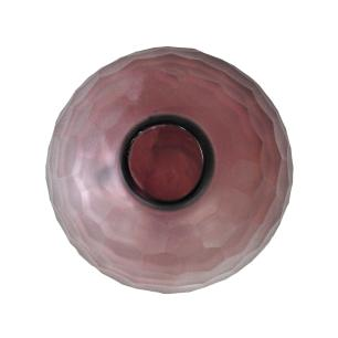 Vaso Decorativo em Vidro na cor Violeta - 16x12x12cm