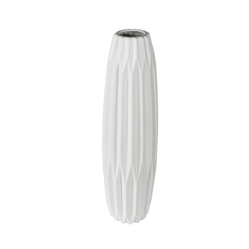 Vaso Decorativo em Cerâmica na Cor Branca - 59cm