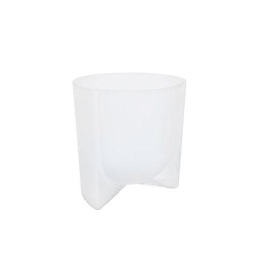 Vaso em Vidro Decorativo Branco - 19,5x17cm