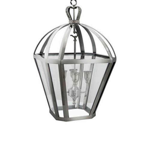 Lustre Lanterna em Metal - 106x48x48cm