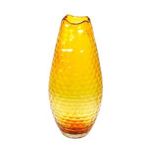 Vaso Decorativo em Vidro na Cor Âmbar - 43x18,5cm