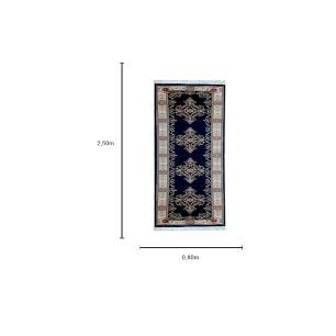 Passadeira Persa Azul e Bege - 80x250cm