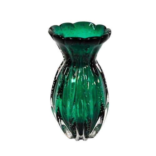 Vaso em Murano Verde - 23x13cm