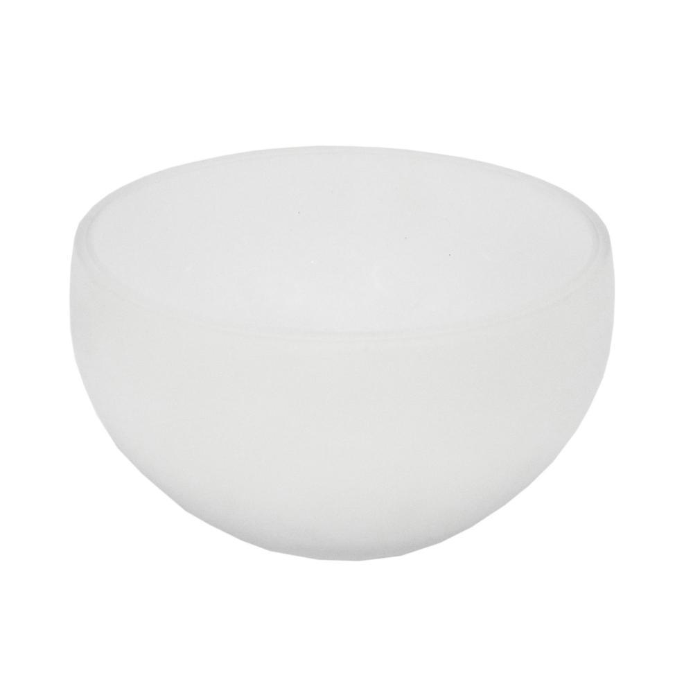 Vaso Decorativo Branco Fosco em Vidro - 10x18x18cm