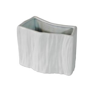 Vaso Decorativo em Porcelana na Cor Branca - 18x21cm
