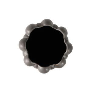 Vaso Decorativo em Cerâmica na Cor Cinza Escuro - 32cm