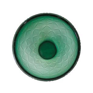 Vaso Decorativo em Vidro na Cor Verde - 23x17cm
