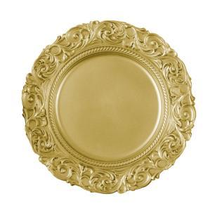 Sousplat em Resina Dourado - 3x36x36cm