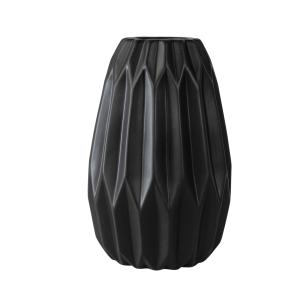 Vaso Decorativo Harmonic em Cerâmica na Cor Preta - 25cm