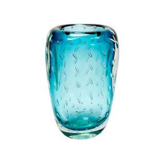 Vaso em Murano na Cor Azul Degrade - 27x13x9cm