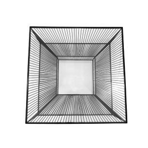 Mesa em Ferro Preto com Tampo em Vidro - 39x80x80cm