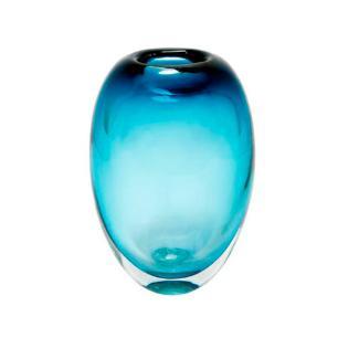 Vaso em Murano na Cor Azul Degrade - 19x12x8cm