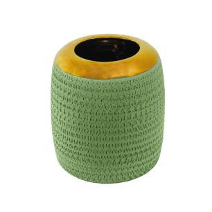 Vaso Decorativo em Cerâmica Pequeno Verde - 20x16cm