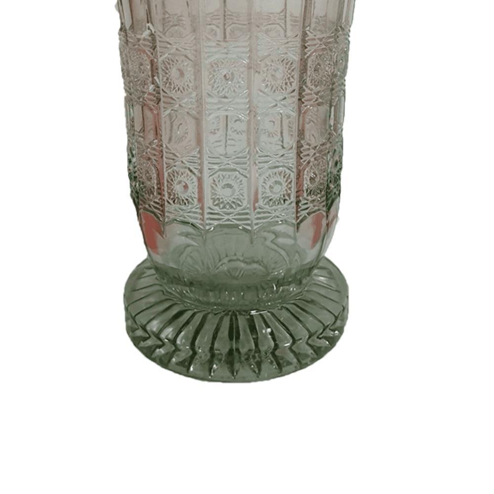 Vaso Versailles em Cristal Verde - 19x30cm