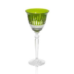 Taça de Cristal Polonês Verde para Vinho - 170ml