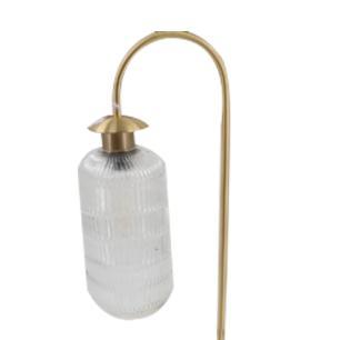 Abajur em Metal Dourado com Cúpula em Vidro - 45x25cm