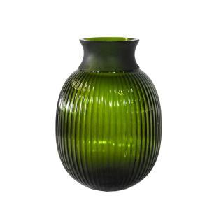 Vaso Decorativo em Vidro na Cor Verde - 22x15cm