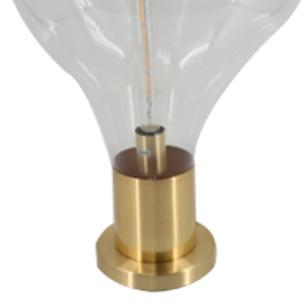 Abajur em Metal Dourado com Cúpula em Vidro - 35x35cm