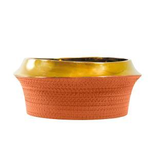 Vaso Decorativo em Cerâmica Laranja - 15x32cm