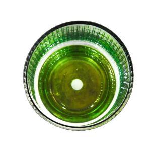 Vaso Decorativo em Vidro na Cor Verde - 13x9cm