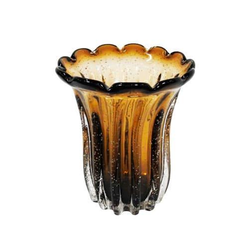 Vaso em Murano Marrom - 23x19cm