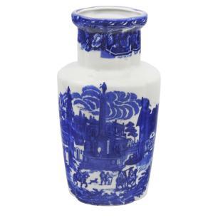 Vaso em Porcelana Azul - 30x14cm