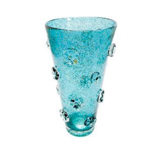 Centro de Mesa em Murano na Cor Azul Turquesa - 31x17cm