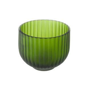 Vaso Decorativo em Vidro na Cor Verde - 10x11cm