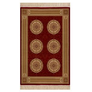 Tapete Persa Vermelho com Detalhes Bege-160x235cm